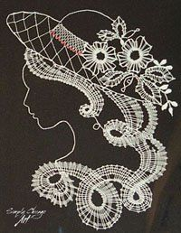 bobbin lace can be picture-like Antique Lace, Vintage Lace, Bobbin Lacemaking, Lace Art, Crochet Needles, Linens And Lace, Needle Lace, Irish Lace, Chantilly Lace