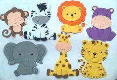 Figuras En Foami Animales De La Selva O Safari   Foamy   Pinterest