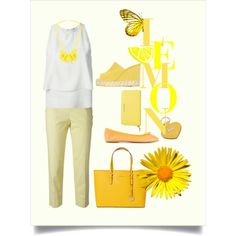 Yellow Lemon by spinnaker-sanremo-alassio-portofino on Polyvore featuring moda, Fendi, Piazza Sempione, ANNA BAIGUERA, Ek Thongprasert, Givenchy, Gucci and Castañer