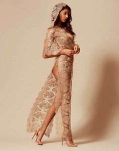bb5f93685 Gayle Gown In Gold lingerie lace seductive
