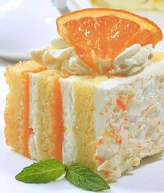 Recipe for Orange Creamsicle Cake - If you Love the taste of Orange Creamsicle Popsicles, you'll Love this cake!
