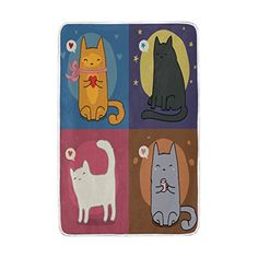 a13045cc54e3 Kids Sport Game · ALIREA Set Of Cute Cats Super Soft Warm Blanket  Lightweight Throw Blankets for Bed Couch Sofa