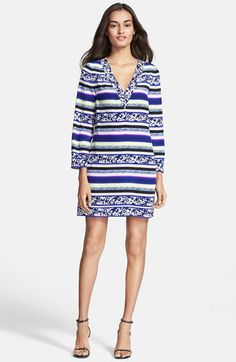 @dvf silk shift dress