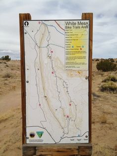 White Ridge, New Mexico MTB. Posted in Bicycling Mag March 2014. Trail map at the Trailhead