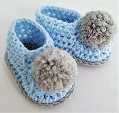 Easy to Crochet Baby Booties Pattern Tutorials - Crochet Patterns Bag Crochet, Crochet World, Free Crochet, Crochet Baby Clothes, Crochet Baby Shoes, Crochet Baby Booties Tutorial, Baby Bootees, Crochet Patterns, Crochet Ideas
