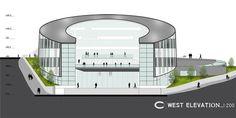 Şişli High School Competition Entry / cem kaptan architecture,west elevation