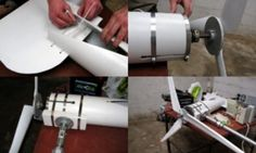 Build-it-yourself wind powered generator guidelines.