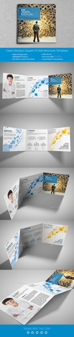 Corporate Tri-fold Square Brochure Template PSD #design Download: http://graphicriver.net/item/corporate-trifold-square-brochure-01/13969234?ref=ksioks
