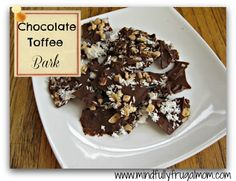 Chocolate Bark with Toffee and Coconut - Easy, Giftable, and no-bake!
