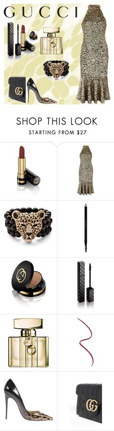 """Bad and Gucci"" by perezbarrios on Polyvore featuring Gucci, Michael Kors, Palm Beach Jewelry and Christian Louboutin"