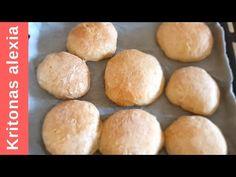 Ψωμάκια για σάντουιτς!   ENG SUBS   #StayHome - YouTube Hamburger, Bread, Youtube, Food, Brot, Essen, Baking, Burgers, Meals