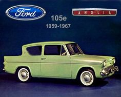 My main complaint about this design is the inward slanting rear window. Apart from ruining the aerodynamics of the car it is just plain ugly. Classic Cars British, Ford Classic Cars, Classic Chevy Trucks, British Car, Retro Cars, Vintage Cars, Antique Cars, 1960s Cars, Ford Motor Company