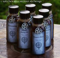 Witchcrafts Artisan Alchemy - ARTISAN ALCHEMIST Ritual Oils - Your Choice, $10.95 (http://www.witchcraftsartisanalchemy.com/artisan-alchemist-ritual-oils-your-choice/)