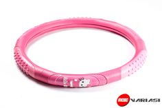 Sarung setir Bintik bintik full pink S-01ukuran M