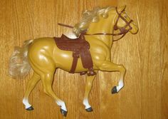Vintage Barbie Horse Dallas with Saddle Bridle Reins Chaps. This was my absolute favorite childhood toy <3