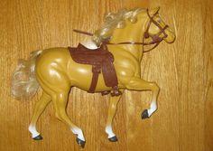 Vintage Barbie Horse Dallas with Saddle Bridle Reins Chaps.