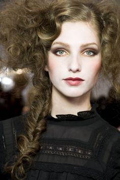 Runway hair and makeup
