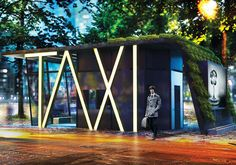 TAXI - Taxi Station by Hakan Gürsu. How about a taxi stand that offers a waiting lounge, office space, personal cabins for drivers, lavatory, changing room, storage area, kitchen and resting area! | Yanko Design
