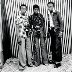 The Photographers, 1975  Mali's most celebrated photographer Malick Sidibé launched 'Studio Malick' in Mali in 1962, two years after the country gained independence.  Picture: MALICK SIDIBE - Courtesy Andre Magnin and Tristan Hoare