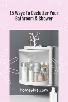 Want to wake up every morning to an organized bathroom free of clutter? Here are 15 of the best bathroom organization ideas to instantly increase storage space on the bathroom counter, cabinet and make your bathroom look more spacious. Visit our blog to be inspired by these 15 ingenious organization ideas #homewhis #bathroomorganization #storageidea #undersinkorganization #organization #declutter #counterorganization Bathroom Counter Organization, Organized Bathroom, Under Sink Organization, Sink Organizer, Home Organization Hacks, Bathroom Corner Shelf, Bathroom Rack, Amazing Bathrooms, Declutter