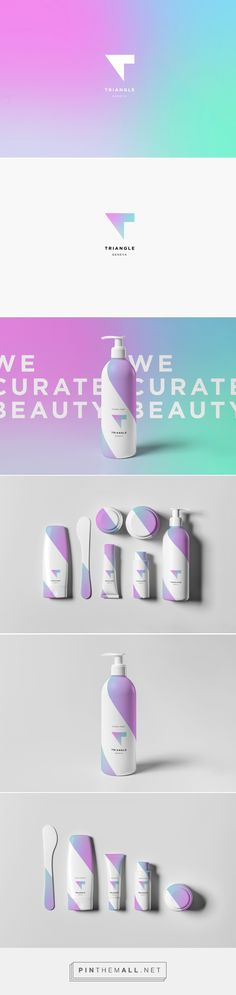 Triangle Womens Hair Care Packaging and Brand Identity by Romain Roger | Fivestar Branding – Design and Branding Agency & Inspiration Gallery - created via https://pinthemall.net