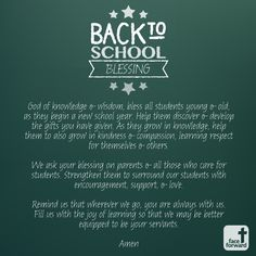 Back to School Blessing | Prayer | Gift of Knowledge | Face Forward Columbus