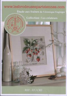 Cross stitch - flowers: botanicals - Fragraria vesca - strawberry (free pattern with chart)