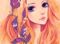 Картинки по запросу аниме девушки с рыжими волосами