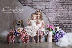 Dallas Children's Photographer, brick wall, siblings, block 62 Girls Dresses, Flower Girl Dresses, Photographing Kids, Dahlias, Brick Wall, Siblings, Baby Kids, Daisy, Babies