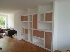 Wandkast combinatie open & gesloten vakken