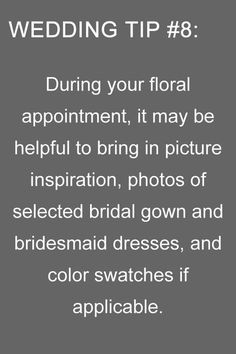 wedding tips during floral appointment