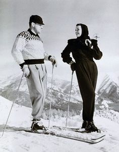 I went cross-country skiing in a Finnish forest last weekend. There still is quite a bit of snow in northern corners of Nordic Countries, h. Ski Vintage, Vintage Posters, Ski Fashion, School Fashion, Sporty Fashion, Fashion Women, High Fashion, Winter Fashion, Jet Ski
