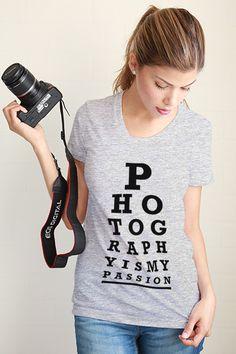 Photography Eye Chart Women Tee