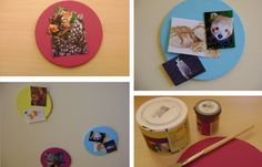 DIY: Bunte Pinnwand mit Foto-Magneten!