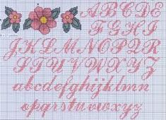 Cross Stitch Letter Patterns, Cross Stitch Letters, Stitch Patterns, Embroidery Alphabet, Embroidery Fonts, Cross Stitching, Cross Stitch Embroidery, Plastic Canvas Letters, Fancy Letters