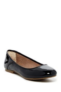 UGG Australia - Antora Patent Faux Fur Lined Ballet Flat at Nordstrom Rack. Free Shipping on orders over $100.