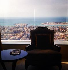 Room with a view at Conrad Dubai.