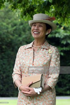 HIH Princess Takamado of Japan walks through the gardens of Aras an Uachtarain, the residence of Irish President, Michael D Higgins, where she visited a Kaduura tree planted by Crown Prince Akihito in 1985, at Phoenix Park, Dublin on July 7, 2017, during her visit to the country. / AFP PHOTO / Paul FAITH        (Photo credit should read PAUL FAITH/AFP/Getty Images)
