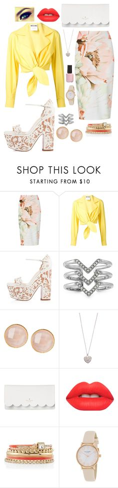 """Working Bright"" by puppydog28 ❤ liked on Polyvore featuring M&S, Moschino, Christian Louboutin, Stella & Dot, Saachi, Accessorize, Kate Spade, Lime Crime, White House Black Market and BP."