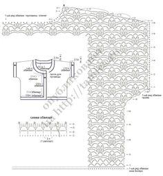 вязаное крючком болеро схема 3