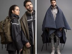 Parsons fashion design student Angela Luna created a line of clothing for refugees called Adiff, where garments like coats convert to tents, bags and more.