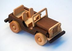 Wooden Toy Truck Offroad Vehicle Classic Jeep by woodentoystudio Wooden Toy Trucks, Wooden Car, Woodworking Toys, Woodworking Projects, Wood Toys, Diy Toys, Toys For Boys, Wood Crafts, Wood Projects