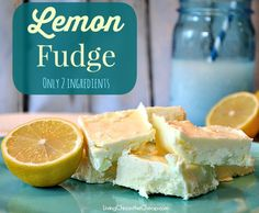 Lemon Fudge (Only 2 Ingredients) This is so easy to make. Perfect for Summer! If you LOVE lemon you gotta try this. #recipes