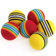 nice Chiwava Pet 3Pcs Rainbow Color EVA Material Kitten Cat Toy Ball