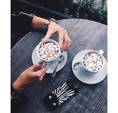 coffee, marshmallow, and drink image Sandwiches, Good Food, Yummy Food, Healthy Food, But First Coffee, Me Time, Marshmallow, Just In Case, Cravings