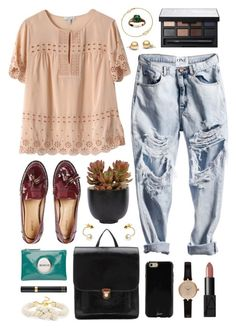 Pink Mim by sophiehackett on Polyvore featuring polyvore fashion style J.Crew Hstyle Mimco BaubleBar Astley Clarke Barbour Jeweliq Sonix NARS Cosmetics Tom Ford Lux-Art Silks