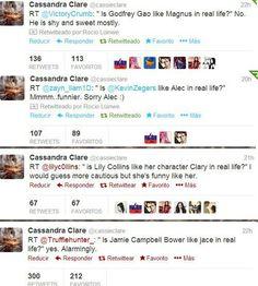 Cassandra tweets, cast vs characters. The last one.