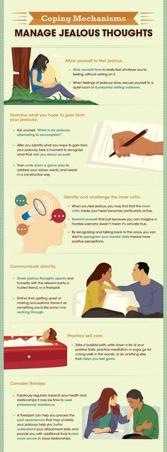 Psychology : Psychology infographic and charts How to cope with jealous feelings Infog