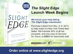 Want to read, learn and help all at the same time? Check out this relaunch of this great book by Jeff Olson for it's 8th anniversary!