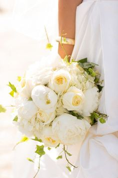 All white bouquet.